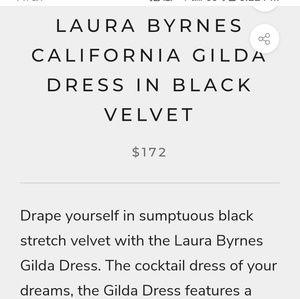 PinupGirl Clothing Dresses - Pinup Girl velvet cocktail dress